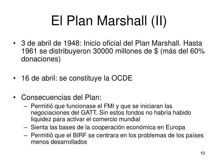El Plan Marshall (II)
