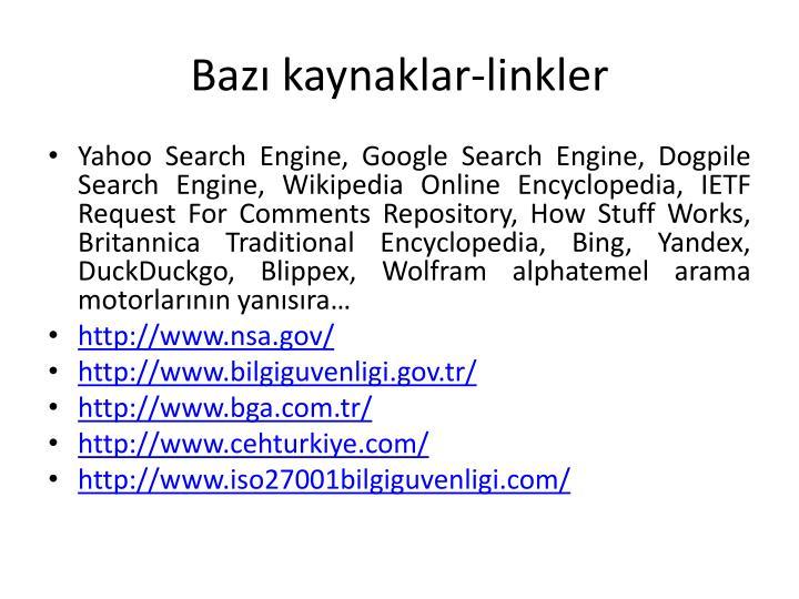 Bazı kaynaklar-linkler