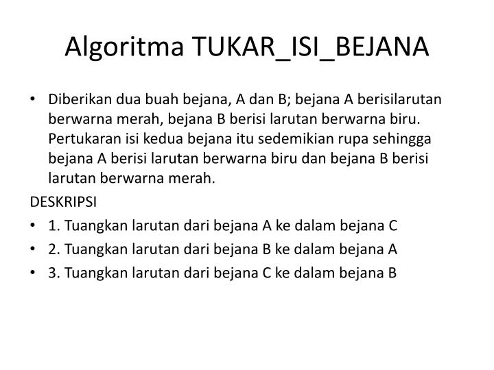 Algoritma TUKAR_ISI_BEJANA