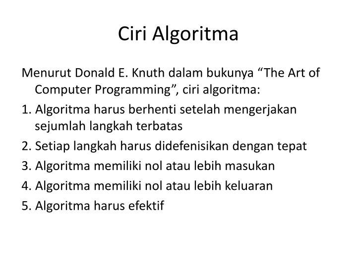 Ciri Algoritma