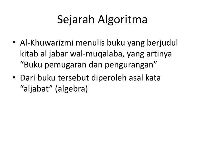 Sejarah Algoritma