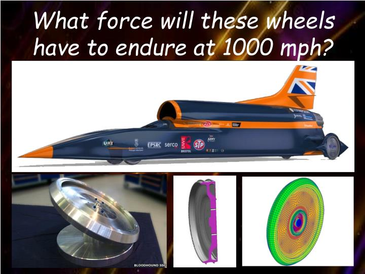 What force will these wheels have to endure at 1000 mph?