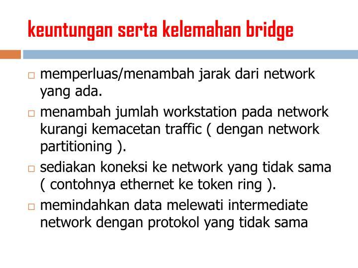 keuntungan serta kelemahan bridge