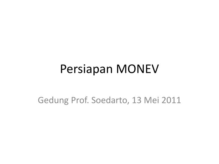 Persiapan monev