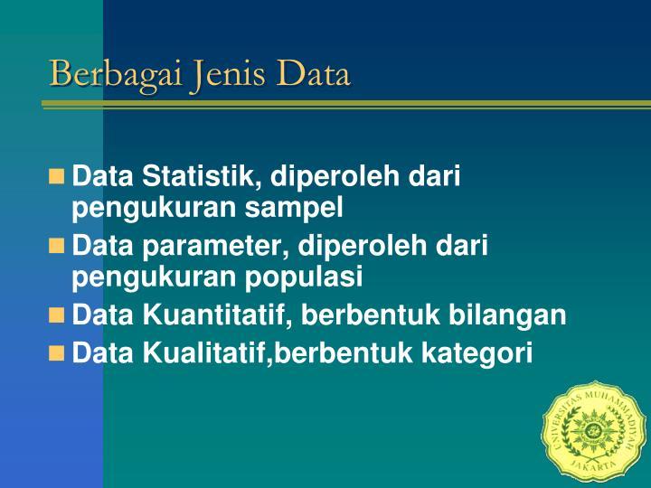 Berbagai Jenis Data