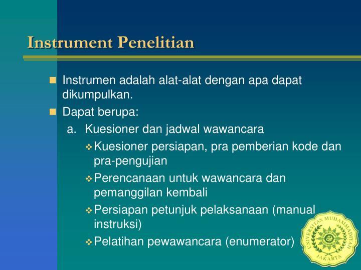 Instrument Penelitian