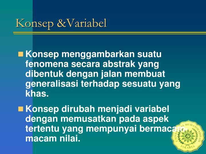 Konsep &Variabel