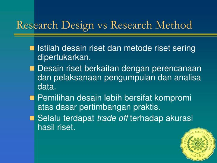 Research Design vs Research Method
