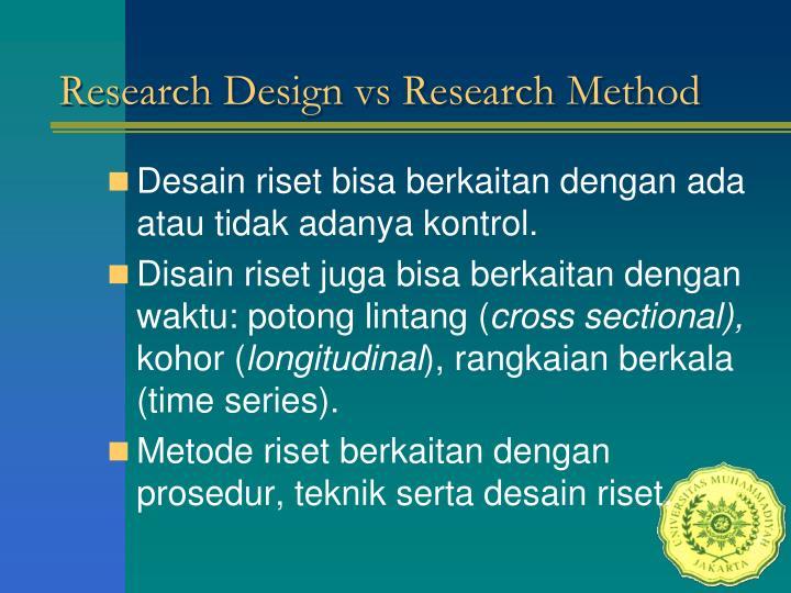 Research Design vs Research Method