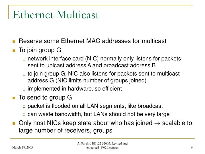 Ethernet Multicast