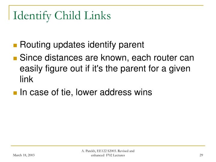Identify Child Links