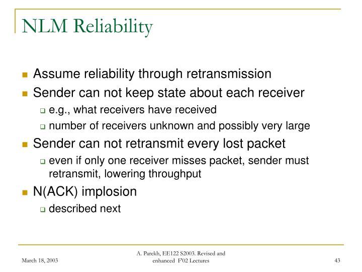 NLM Reliability