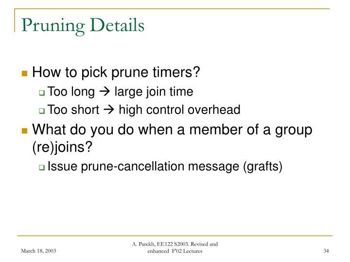 Pruning Details