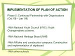 implementation of plan of action4