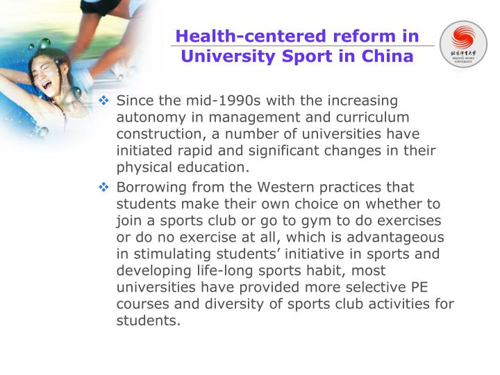 Health-centered reform in University Sport in China