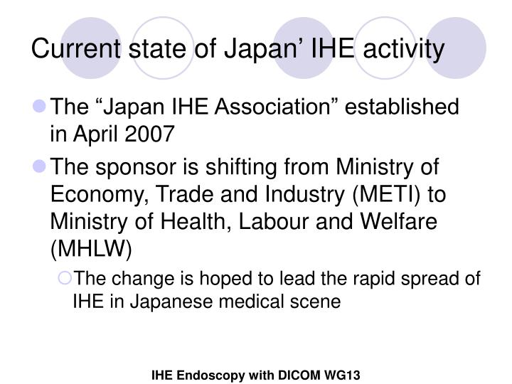 Current state of Japan' IHE activity