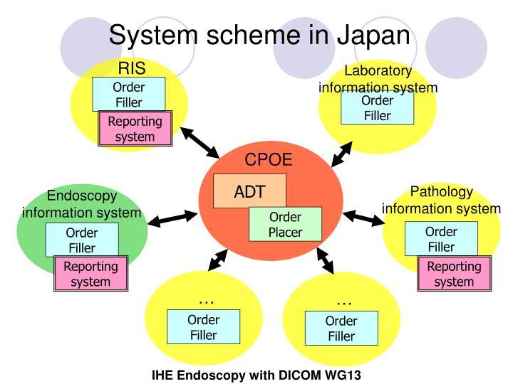 System scheme in Japan