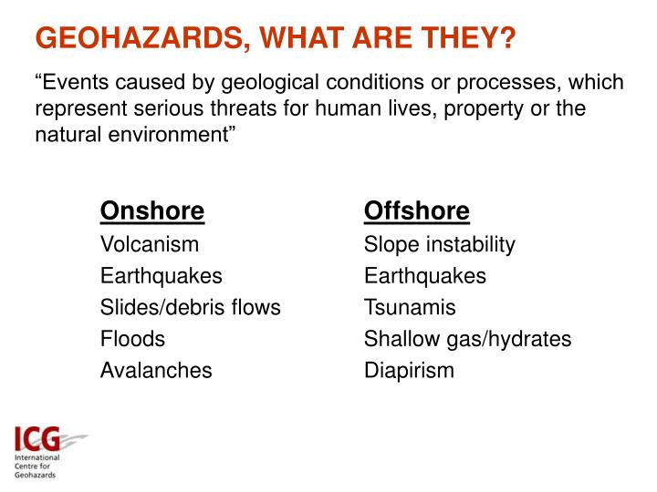 GEOHAZARDS, WHAT ARE THEY?