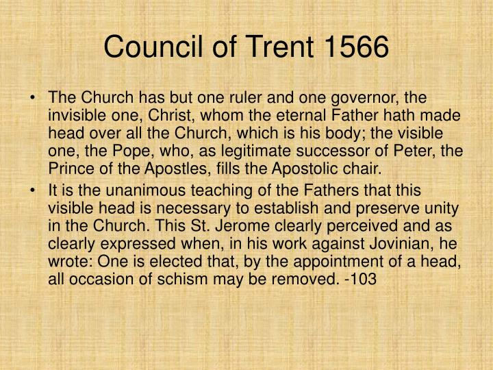 Council of Trent 1566