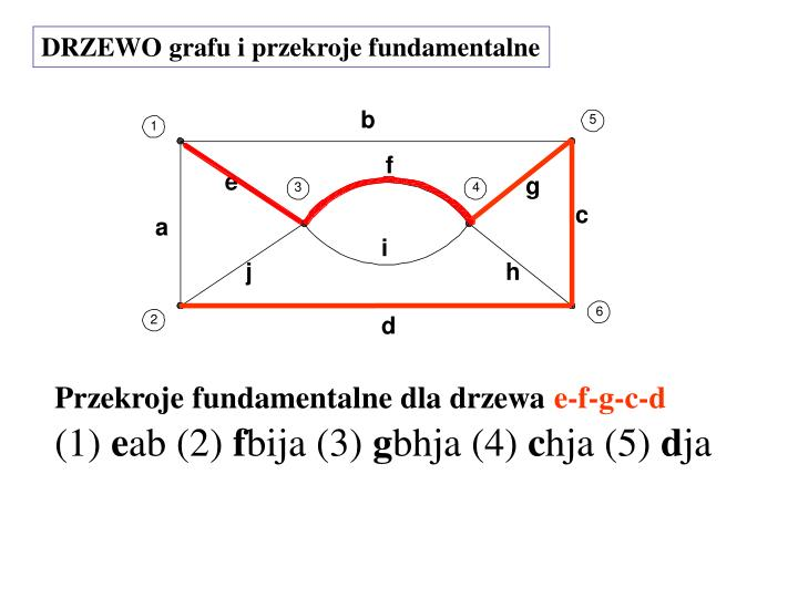 DRZEWO grafu i przekroje fundamentalne