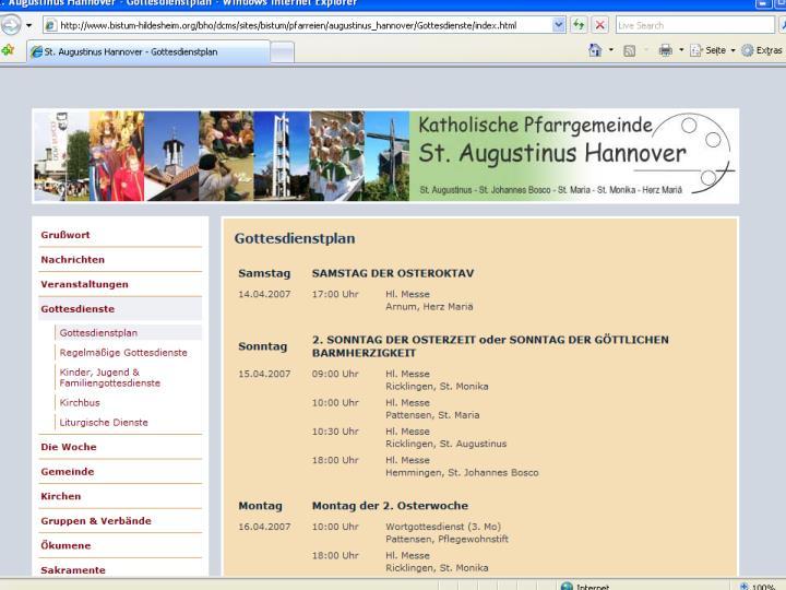 CMS für Pfarreien
