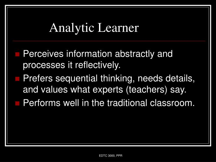 Analytic Learner