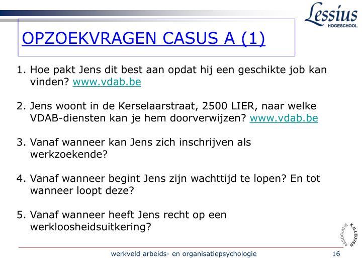 OPZOEKVRAGEN CASUS A (1)