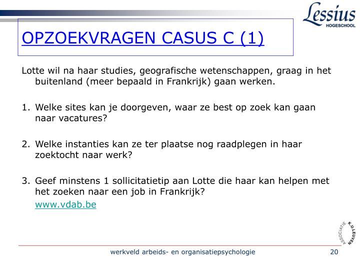 OPZOEKVRAGEN CASUS C (1)