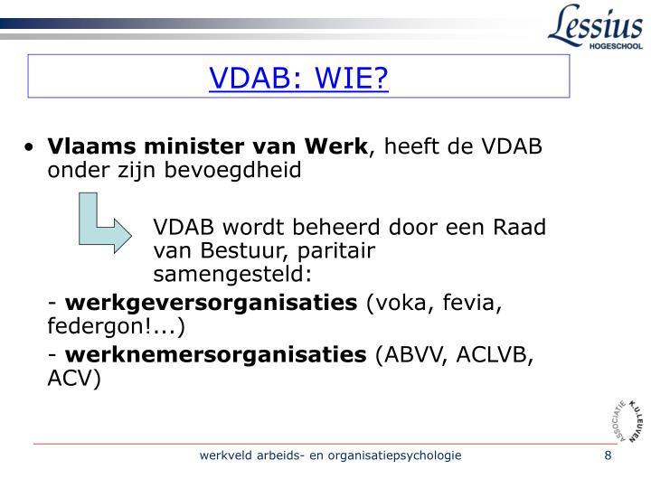 VDAB: WIE?