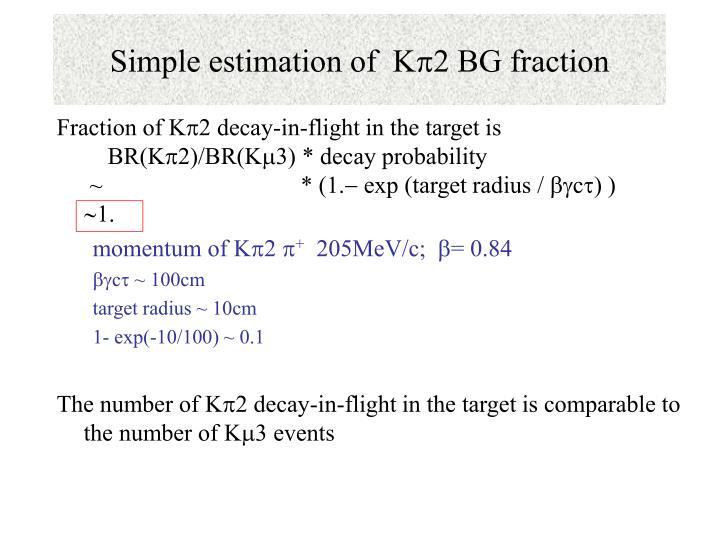 Simple estimation of  K