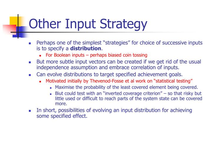 Other Input Strategy