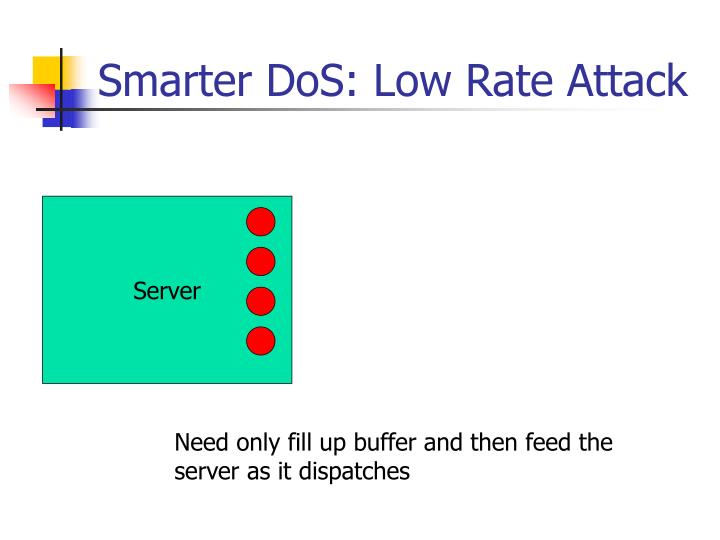 Smarter dos low rate attack