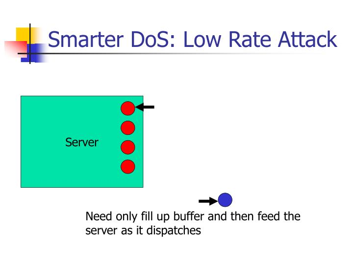 Smarter DoS: Low Rate Attack