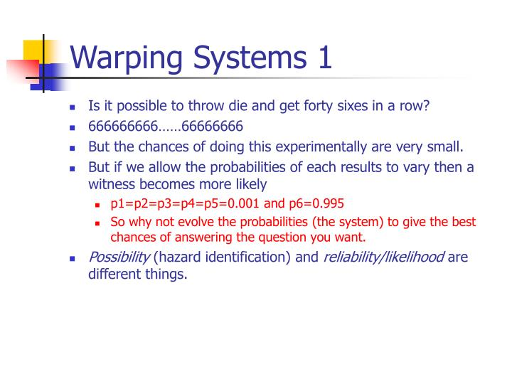 Warping Systems 1