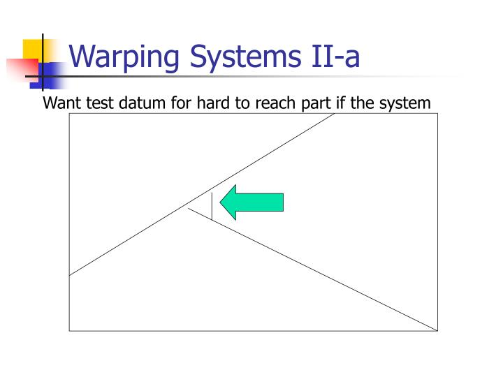 Warping Systems II-a