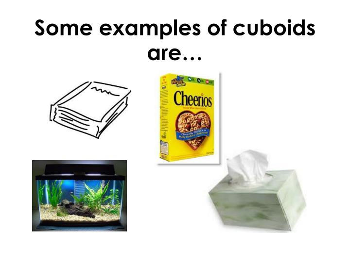 Some examples of cuboids are…