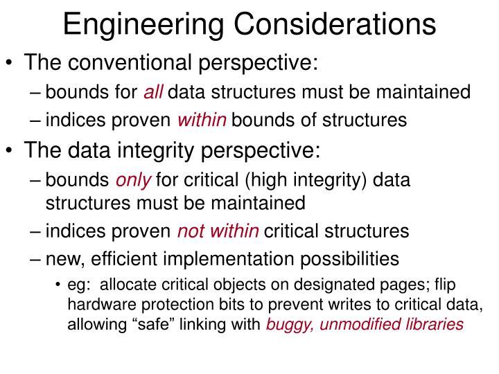 Engineering Considerations