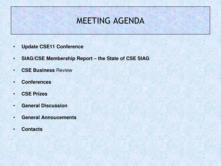 Update CSE11 Conference
