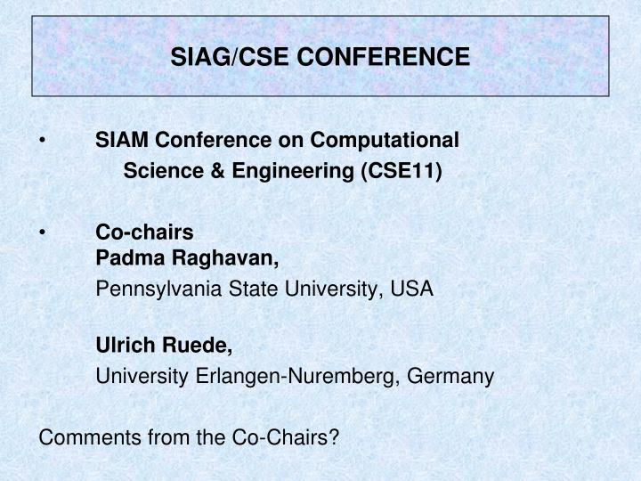 SIAG/CSE CONFERENCE
