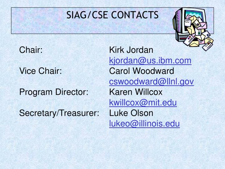 SIAG/CSE CONTACTS