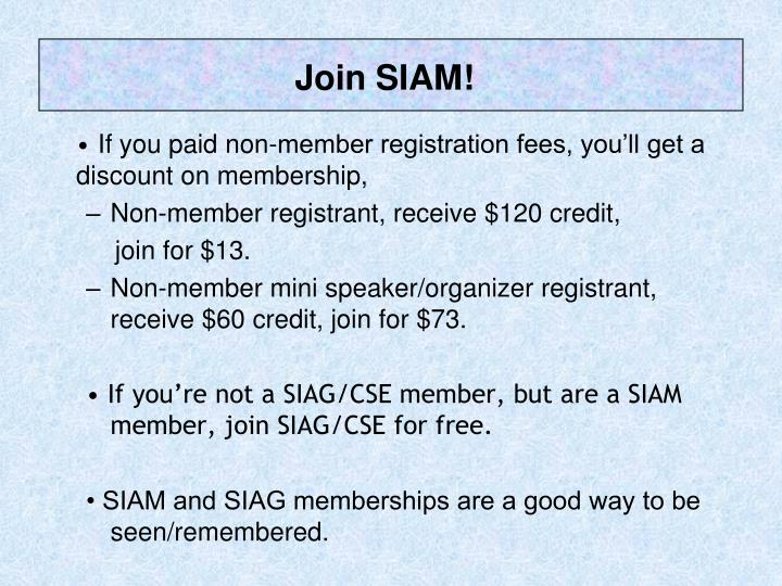 Join SIAM!