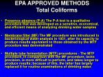 epa approved methods total coliforms