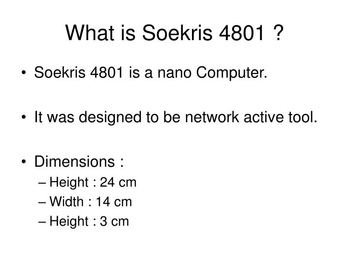 What is soekris 4801