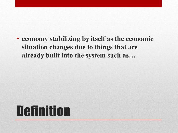 economy stabilizing