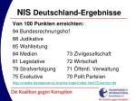 nis deutschland ergebnisse