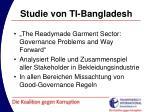studie von ti bangladesh