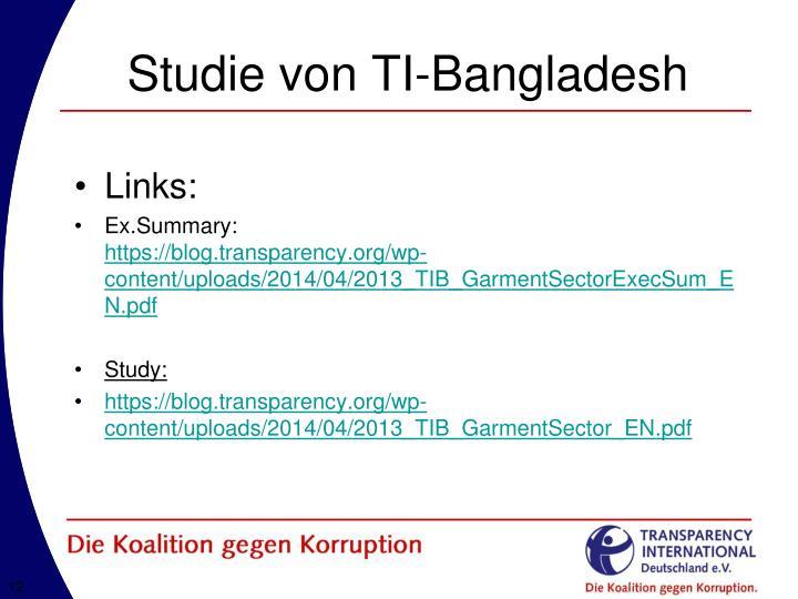 Studie von TI-Bangladesh