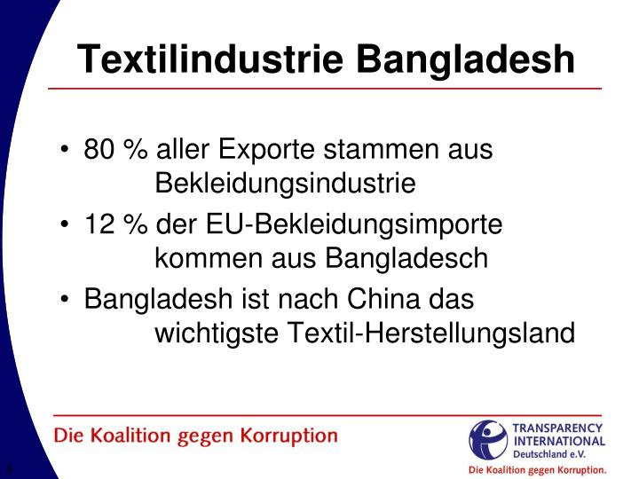 Textilindustrie Bangladesh