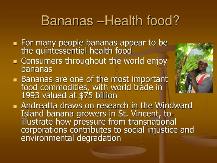 Bananas health food