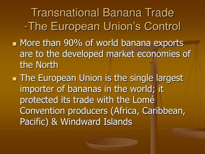 Transnational Banana Trade